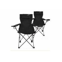 Komplet 2 x krzesło składane DIVERO - czarne