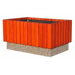 Eco-market.pl Donica betonowo-drewniana 87x56x46 cm