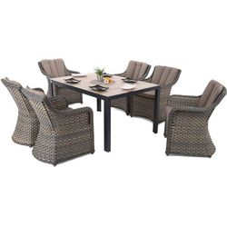 Home & garden Meble ogrodowe aluminiowe capri 145 cm black / sand dallas brown / taupe 6+1 (5902425328477)