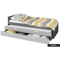 łóżko młodzieżowe taratam 90x200 cm z wyborem łóżka dolnego i szuflady marki Selsey