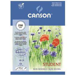 Canson Student blok akwarelowy 30x40/10 250g/m - produkt z kategorii- Papiery fotograficzne