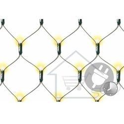 Lampki ogrodowe 128 LED, ciepłe białe, sieć