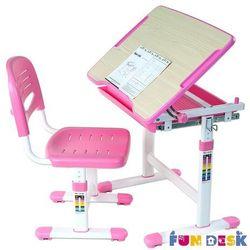 Piccolino Pink - Ergonomiczne, regulowane biurko dziecięce + krzesełko FunDesk