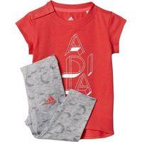 Komplet adidas Mini Me Girls Set Kids AY6014, kolor czerwony