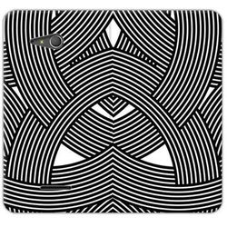Flex Book Fantastic - Sony Xperia E4g - etui na telefon Flex Book Fantastic - biało-czarna mozaika z kategori