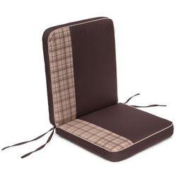 Poduszka coffee low - brązowa z beżową kratką - 97x47 cm marki Hobbygarden