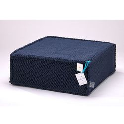 We love beds Puf soft flat dark blue by