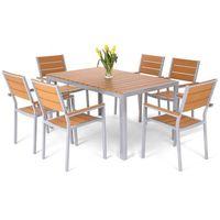 Home&garden Meble ogrodowe home&garden 537457 salvador aluminiowe srebrny + darmowy transport!