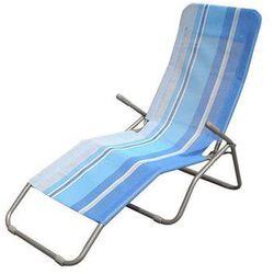 Happy green leżak plażowy, metal + siatka - jasnoniebieski (8591022216330)