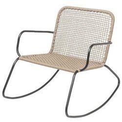 Fotel ogrodowy bujany Mundo, naturalny - Bloomingville, 50255230