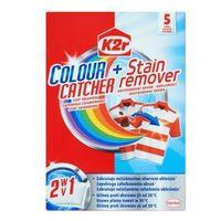 K2r Colour Catcher + Stain Remower 2 w 1 Saszetki zapobiegające zafarbowaniu ubrań z odplamiaczem 5 szt.