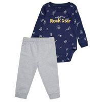 Carter's DADDYS ROCK STAR SET Body blue, kolor niebieski