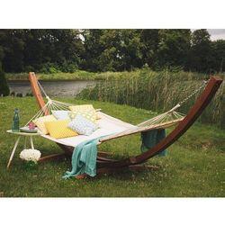Hamak ogrodowy z drewna modrzewiowego - beżowy TREVISO