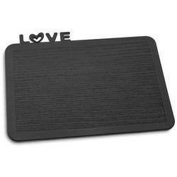 Deska śniadaniowa happy boards love czarna marki Koziol