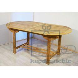 Garthen Rozkładalny stół z drewna tekowego garth owalny 170 - 230 cm