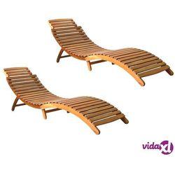 Vidaxl leżaki, 2 szt., lite drewno akacjowe