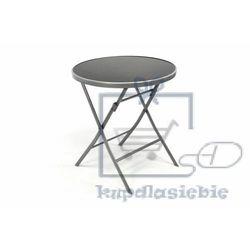 Garthen Garden bistro stół składany z blatem szklanym - srebrny (4025327364914)