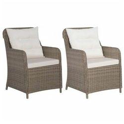 Fotele ogrodowe z polirattanu Grafton 2 szt - brąz, vidaxl_44148