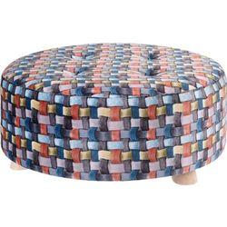 Pufa bawełniana, siedzisko, podnóżek, kolorowy - 52 x 22 cm marki Home styling collection