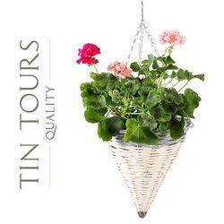 Zwis wiklinowy / kosz wiszący na kwiaty śr.30x34/68h cm marki Tin tours sp.z o.o.
