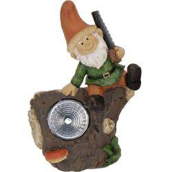 Lampa solarna krasnal figurka kamienna - Wzór I