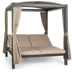 eremitage double xl, łóżko do opalania, 2-osobowe, rama stalowa, dach przeciwsłoneczny, zasłony marki Blumfeldt