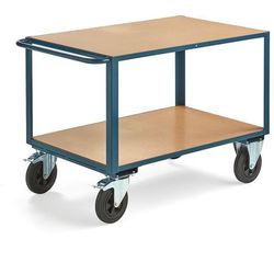 Aj produkty Wózek warsztatowy, z hamulcem, 2 koła skrętne, 600 kg, 1100x700 mm