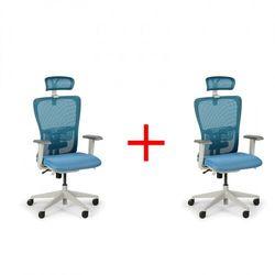 Krzesło biurowe gam, 1+1 gratis, niebieskie marki B2b partner