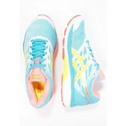 ASICS GELCUMULUS 18 Obuwie do biegania treningowe white/safety yellow/blue atoll - sprawdź w Zalando.pl