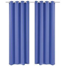 Vidaxl Zasłony zaciemniające z kółkami, 2 szt., 135x175 cm, niebieskie