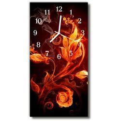 Zegar Szklany Pionowy Kwiaty Kwiaty abstrakcyjne kolorowy, kolor wielokolorowy