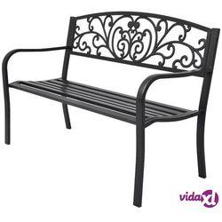 Vidaxl ławka ogrodowa, 127 cm, żeliwna, czarna