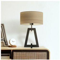 Lysne Drewniana lampka nocna z abażurem clio eco