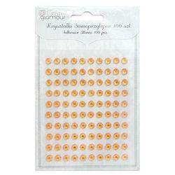 Kryształki samoprzylepne Dalprint GRKR-06/100szt. - pomarańczowe z kategorii Pozostałe artykuły do decoupa