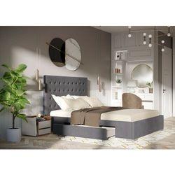Łóżko 160x200 tapicerowane pesaro + 2 szuflady welur szare marki Big meble