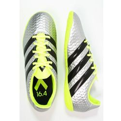 adidas Performance ACE 16.4 IN Halówki silver metallic/core black/solar yellow - produkt z kategorii- Buty sp
