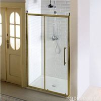 Gelco Antique drzwi prysznicowe do wnęki 130x190 cm szkło czyste ze wzorem, kolor brąz gq4213 (859091383053