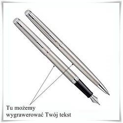 Zestaw Waterman Hemisphere Stalowy CT wieczne pióro i długopis z opcją graweru - produkt z kategorii- Na im