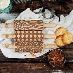Pattern - zestaw 3 mini wałki do ciasta - pattern - zestaw marki Mygiftdna