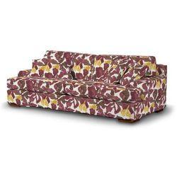 Dekoria  pokrowiec na sofę göteborg nierozkładaną, żółto-brązowe kwiaty, sofa göteborg nierozkładana, wyprzedaż do -30%