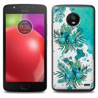 Fantastic Case - Motorola Moto E4 - etui na telefon Fantastic Case - turkusowa orchidea, kolor niebieski