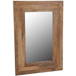 Home styling collection Dekoracyjne lustro ścienne w drewnianej oprawie - 70 x 50 cm (8718158953094)