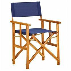 Krzesło reżyserskie Martin - niebieskie, vidaxl_45952