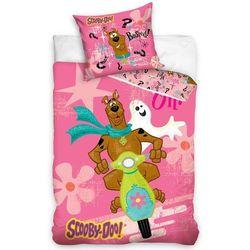 Tip trade dziecięca pościel bawełniana scooby doo pink, 140 x 200 cm, 70 x 80 cm marki 4home