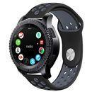 Sportowy pasek soft band do Samsung Gear S3 czarno-szary - Czarny ||Szary, kolor czarny