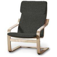 Dekoria  poduszka na fotel poäng, brązowo-grafitowy melanż, fotel poäng, living