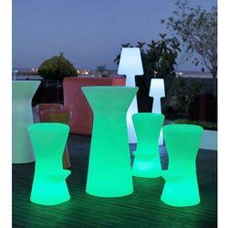 Sofa.pl New garden stolik barowy capri 110 solar biały - led, sterowanie pilotem