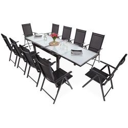 Home&garden Meble ogrodowe aluminiowe orlando basic black / black 10+1