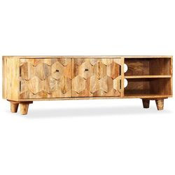 Vidaxl szafka pod telewizor z litego drewna mango, 118x35x40 cm (8718475572688)