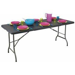 Stół cateringowy, bankietowy, ogrodowy, składany, 180cm, ratan marki Modernhome